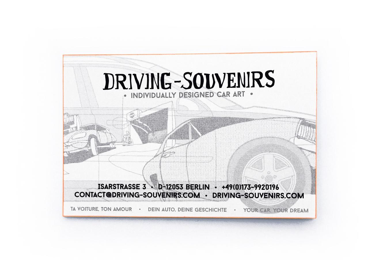 Driving Souvenirs Individually Designed Car Art Contact